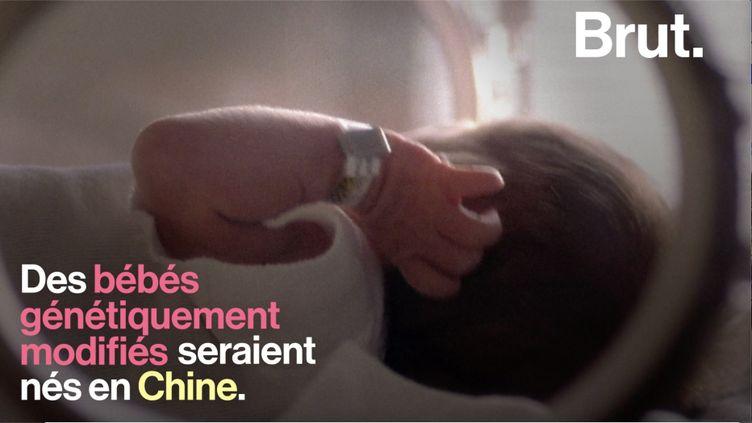 Exploit ou acte immoral? Le scientifique He Jianku affirme avoir modifié l'ADN de deux embryons. Une déclaration qui n'a pas fait l'unanimité.  (BRUT)