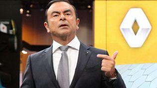 Le PDG de Renault, Carlos Ghosn, à la conférence de presse du groupe le 29 septembre 2016. (CITIZENSIDE/PAUL ALFRED-HENRI / CITIZENSIDE)