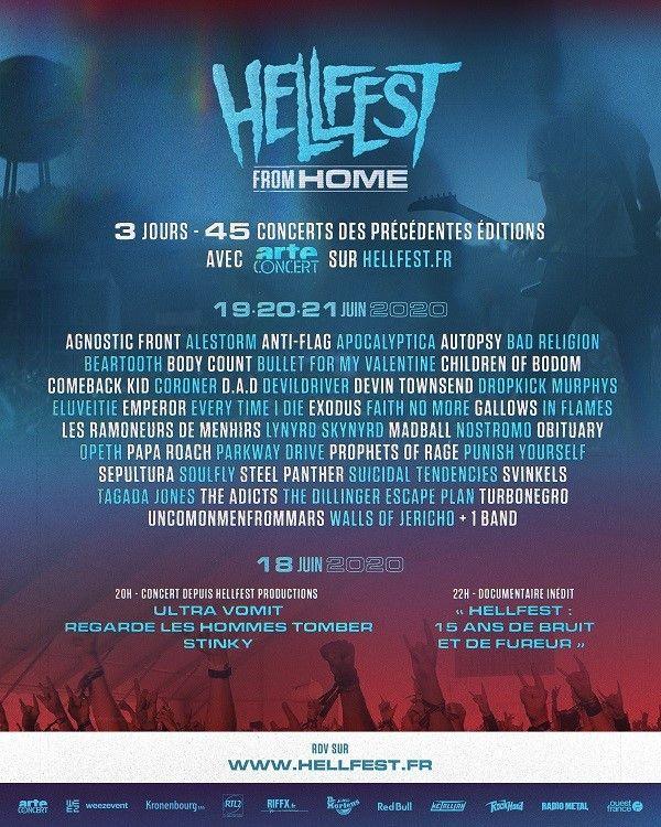 L'affiche du Hellfest From Home, édition en ligne 2020. (HELLFEST)