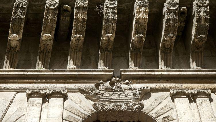 Détail de la façade de l'hôtel de ville de La Rochelle (mai 2019) (PHILIPPE ROY / AURIMAGES / AFP)