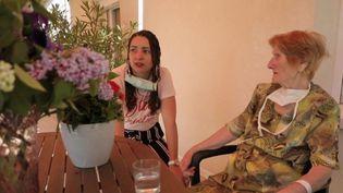 Coronavirus : ancienne résistante, une centenaire a vaincu le coronavirus (Capture d'écran France 2)