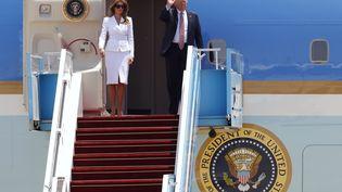 Mélania et Donald Trump, le 22 mai 2017 à Tel-Aviv (Israël). (JACK GUEZ / AFP)