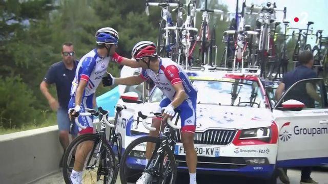 Thibaut Pïnot, blessé et en larmes, abandonne le Tour de France
