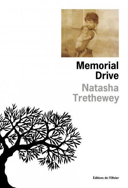 """Couverture de """"Memorial Drive"""", de Natasha Trethewey (Editions de L'Olivier)"""