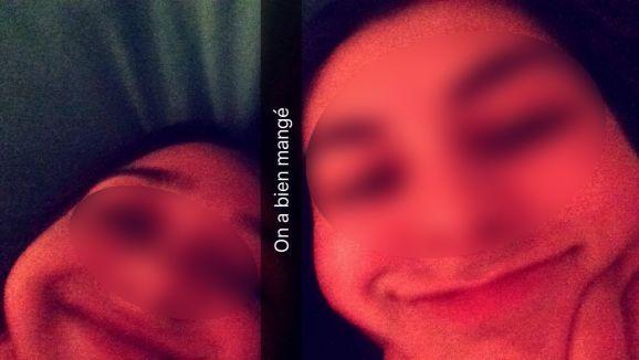 Un selfie capturé sur Snapchat. (SNAPCHAT)