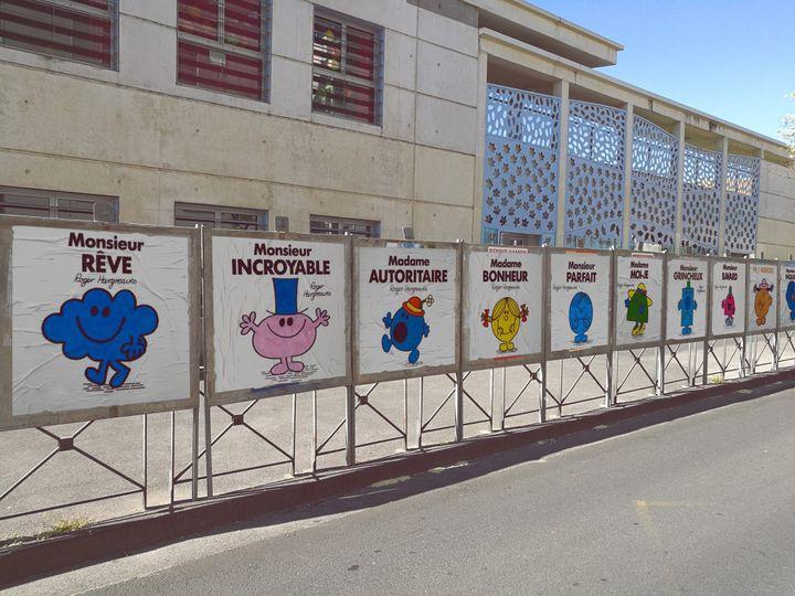L'installation du street artist Efix, à Montpellier (Hérault), en avril 2017. (EFIX / FACEBOOK)
