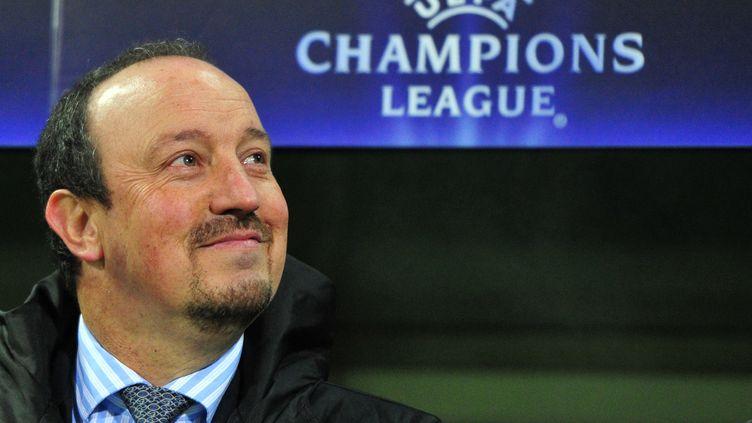 Rafael Benitez le 7 décembre 2010 à Brême (Allemagne), alors qu'il était l'entraîneur de l'Inter Milan. (JOHANNES EISELE / AFP)