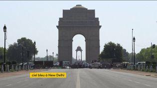 Le ciel bleu est revenu à New Delhi (Inde) à la faveur du confinement (FRANCEINFO)