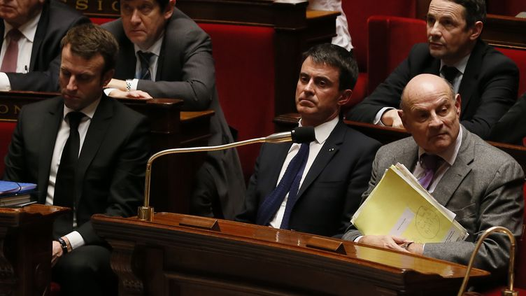 Le Premier ministre, Manuel Valls, à l'Assemblée nationale (Paris), le 17 février 2015. (PATRICK KOVARIK / AFP)