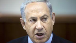 Le Premier ministre israélien, Benyamin Netanyahu, le 24 novembre 2013, à Jérusalem. (ABIR SULTAN / AFP)