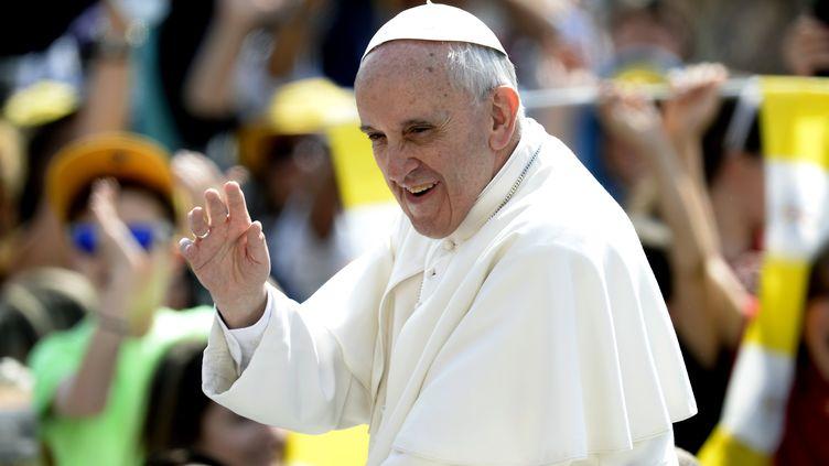 Le pape François, le 5 juin 2013 à Rome (Italie). (FILIPPO MONTEFORTE / AFP)