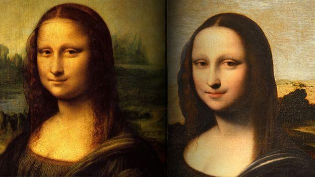 (L'autre Mona Lisa, à droite, est plus jeune, plus radieuse. Il y a en fait 10 ans d'écart entre les deux tableaux © Louvre)