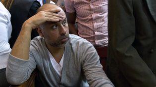 Le Français Nicolas Pisapia lors d'une audience au tribunal à Saint-Domingue (République dominicaine), le 27 mars 2013. (ERIKA SANTELICES / AFP)