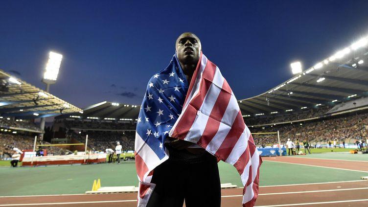 L'Américain Christian Coleman (JOHN THYS / AFP)