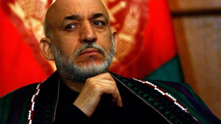 Le président afghan, Hamid Karzai, à Washington, le 8 mai 2009. (© AFP/CHIP SOMODEVILLA)