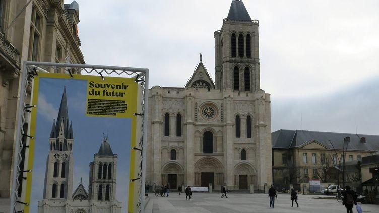 Projet de reconstruction de la flèche de la basilique Saint-Denis.  (Jean-Gabriel Bontinck/PHOTOPQR/LE PARISIEN/MAXPPP)