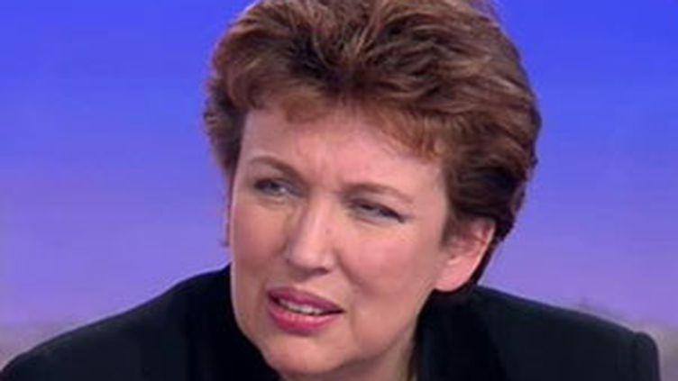 Roselyne Bachelot plaide pour la suppression du droit à l'image des sportifs qu'elle juge injuste et inefficace. . (France 2)