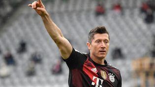 Robert Lewandowski (Bayern Munich) le 15 mai 2021. (THOMAS KIENZLE / POOL)