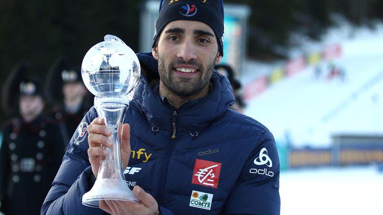 Martin Fourcade a réalisé un carton plein cette saison, décrochant l'ensemble des petits globes de la spécialité ainsi que le gros globe de cristal du classement général de la Coupe du Monde.