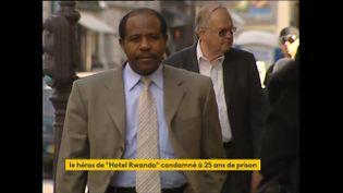 L'ancien hôtelier Paul Rusesabagina, qui avait inspiré le cinéma américain dans le film quasiment autobiographique «Hotel Rwanda», sorti en 2004, connaît des déboires judiciaires depuis le début de l'année. (FRANCEINFO)