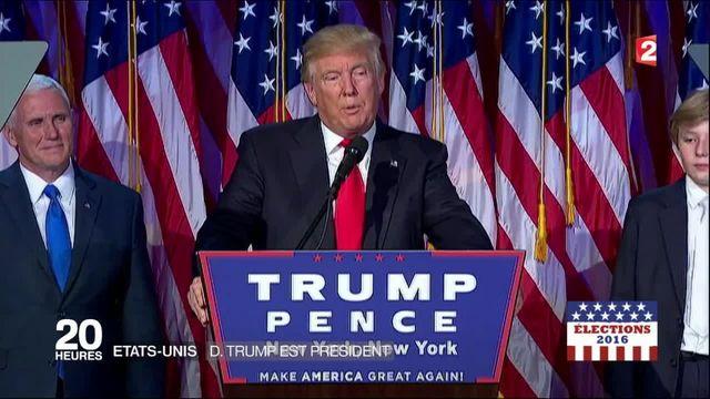 Présidentielle américaine : une soirée de victoire pour Donald Trump