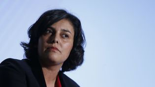 La ministre du Travail, Myriam El Khomri, le 3 février 2016 à Paris lors d'une conférence de presse. (THOMAS SAMSON / AFP)