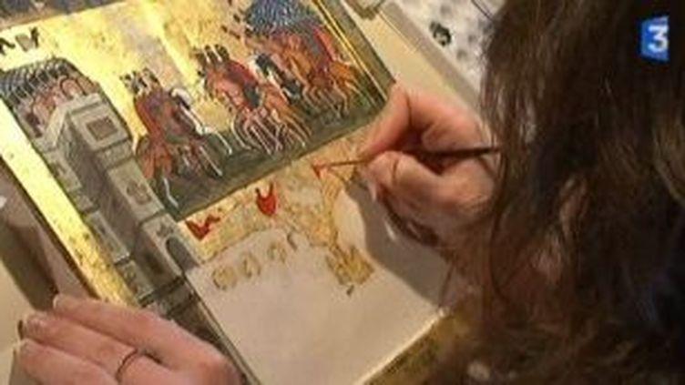 L'artiste copiste Anaïs Pitalier expose ses oeuvres à la Salle des Gardes  (Culturebox)