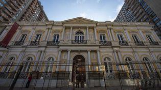 Le Pereira Palace,à Santiago, où les 155 membres de l'assemblée vont écrire la nouvelle Constitution. (MARTIN BERNETTI / AFP)