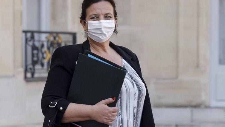 La ministre de l'Enseignement supérieur, de la Recherche et de l'Innovation, Frédérique Vidal, le 31 mars 2021 au palais de l'Elysée, à Paris. (LUDOVIC MARIN / AFP)