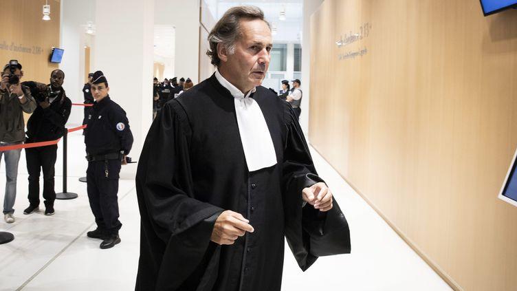 Pierre-Olivier Sûr, ancien bâtonnier de Paris et actuel avocat d'Isabelle Balkany. (ALEXIS SCIARD / MAXPPP)