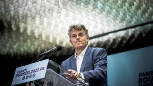 Fabien Roussel au siège du PCF, le 11 mai 2021. (ARTHUR NICHOLAS ORCHARD / HANS LUCAS VIA AFP)