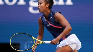 La Caadienne Leylah Fernandez, 19 ans, en demi-finale de l'US Open 2021. (ELSA / GETTY IMAGES NORTH AMERICA / AFP)