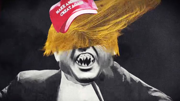 """Donald Trump caricaturé dans le clip de Green Day """"Troubled Times"""".  (Saisie écran)"""