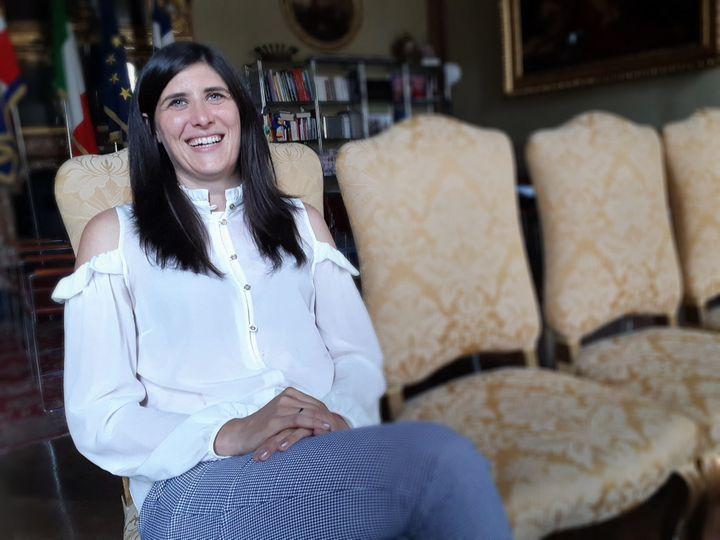 Chiara Appendino, maire 5 étoiles de la ville de Turin, en Italie. (ISABELLE LABEYRIE / RADIO FRANCE)