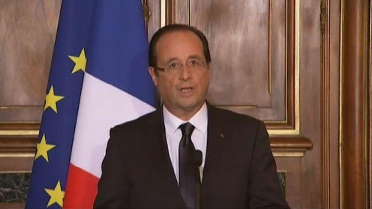 François Hollande à Tulle (Corrèze), le 9 juin 2012. (FTVI / CAPTURE D'ECRAN)