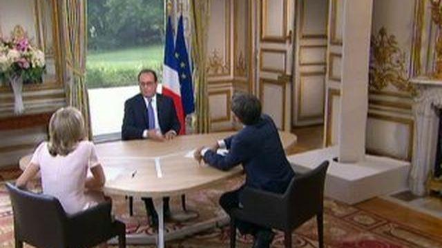 """Hollande : """"S'il n'y a pas de baisse du chômage, je ne serai pas candidat en 2017"""""""