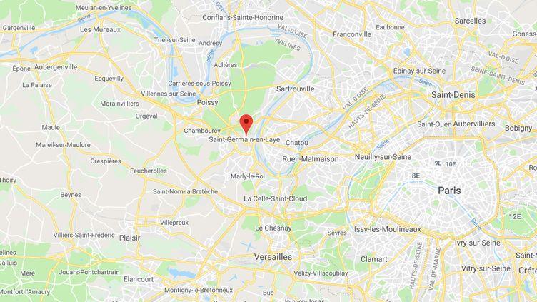 Saint-Germain-en-Laye, dans les Yvelines. (GOOGLE MAPS)