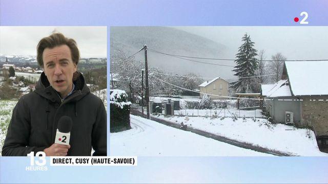 Haute-Savoie : un épisode neigeux et des foyers sans électricité