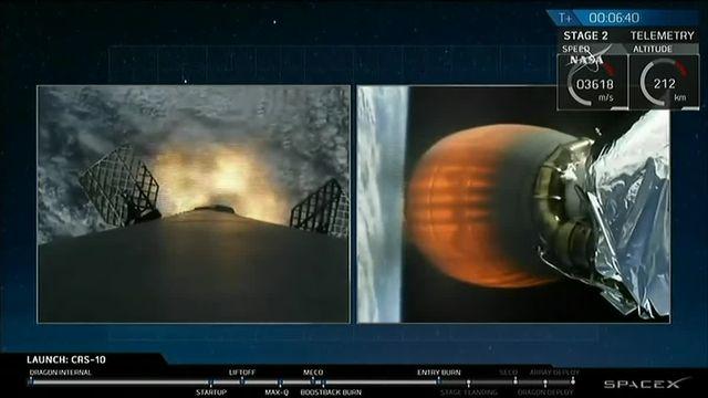 C'était le premier vol de SpaceX et de sa capsule Dragon vers la Station spatiale internationale depuis un accident du lanceur Falcon 9, en septembre.