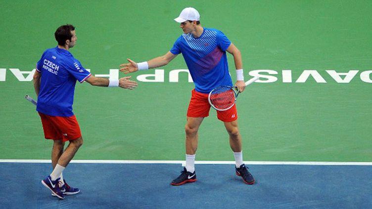 Stepanek et Berdych, la paire tchèque (ANDREJ ISAKOVIC / AFP)