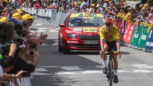 Tobias Foss, dernier vainqueur du Tour de l'Avenir en 2019. (THIERRY GUILLOT / MAXPPP)