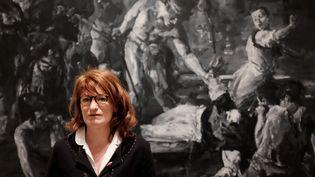 Muriel Mayette-Holtz, à l'époque où elle était directrice de la Villa Medicis à Rome en 2016. (ALBERTO PIZZOLI / AFP)