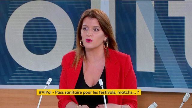 """Pass sanitaire :  """"Il faut regarder dans le détail quels sont les garde-fous qui sont mis sur la question des libertés"""", avertit Marlène Schiappa"""