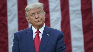 Le président Donald Trump à la Maison Blanche le 13 novembre, lors d'une conférence de presse sur l'opération Warp Speed,initiée par son administration, pour faciliter et accélérer le développement, la fabrication et la distribution de vaccins, thérapeutiques et diagnostics COVID-19. (EPA / MAXPPP)