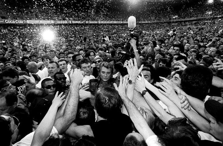 Concert de Johnny Hallyday au Parc des Princes, Paris le 18/06/1993  (PHOTOPQR/LE PARISIEN)