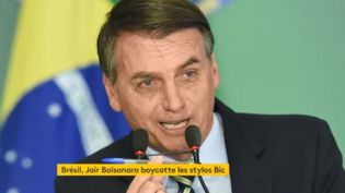 Bolsonaro bic (FRANCEINFO)