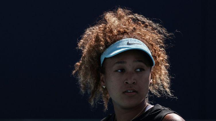 La joueuse de tennis Naomi Osaka, lors du tournoi de Miami, le 29 mars 2021. (MARK BROWN / GETTY IMAGES NORTH AMERICA)