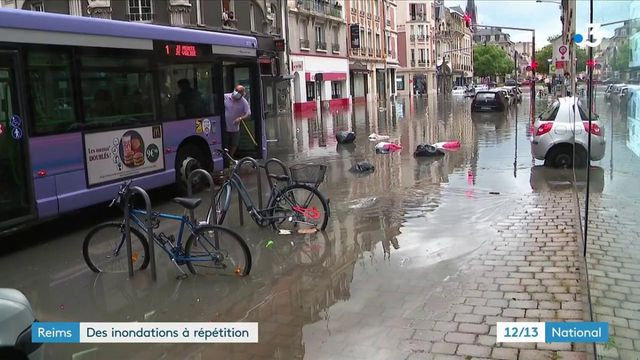 Marne : pour la troisième fois, les rues de Reims sous les eaux
