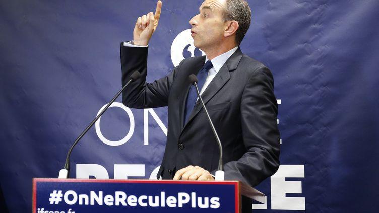 Jean-François Copé, candidat à la primaire de la droite et du centre pour la présidentielle de 2017, photographié le 31 mai 2016 à Paris. (MATTHIEU ALEXANDRE / AFP)