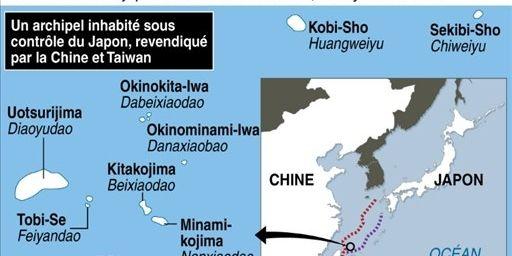 Carte des ilôts contestés (AFP/infographie)
